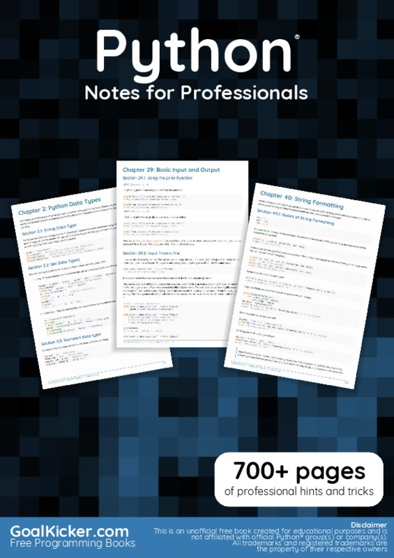 36_PythonNotesForProfessionals.pdf